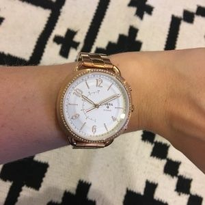 Fossil gold link watch